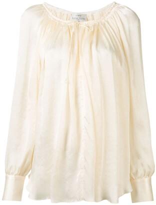 Forte Forte My Shirt drawstring-neck satin blouse