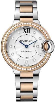 Cartier Ballon Bleu de 18K Rose Gold, Stainless Steel & Diamond Bracelet Watch