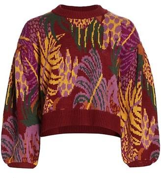 Farm Rio Jungle Print Sweater
