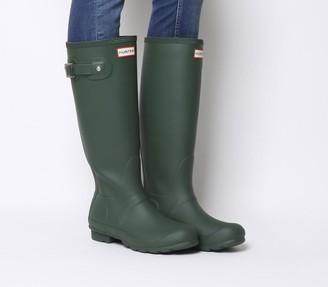 Hunter Womens Original Tall Wellies Green