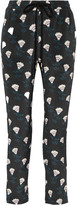 Markus Lupfer Marianne printed silk crepe de chine track pants