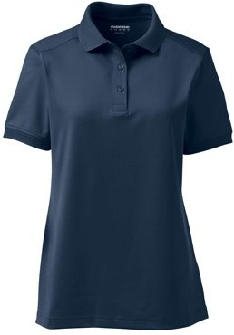 Lands' End Juniors' Short Sleeve Rapid Dry Active Polo