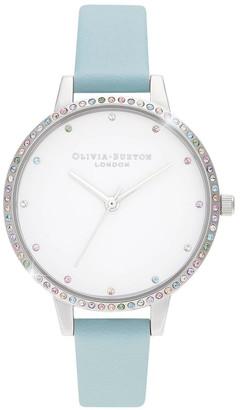 Olivia Burton OB16RB19 Rainbow Bezel, Turquoise & Silver