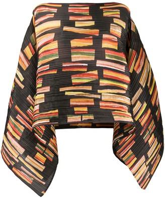 Pleats Please Issey Miyake Pleated Abstract Print Kimono