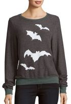 Wildfox Couture Bat Print Long Sleeve Pullover