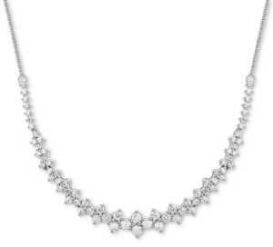 """Wrapped in Love Diamond Collar Necklace (1-1/2 ct. t.w.) in 14k White Gold, 16"""" + 2"""" extender, Created for Macy's"""