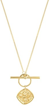 AllSaints Gold-Tone Coin Pendant Toggle Necklace, 24