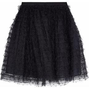 RED Valentino Ruffled Point D'esprit Mini Skirt