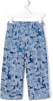 Simonetta floral embroidered trousers - kids - Viscose/Polyimide/Cotton - 12 yrs