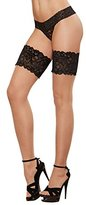 Dreamgirl Women's Cuban Heel Thigh-High Stockings with Back Seam
