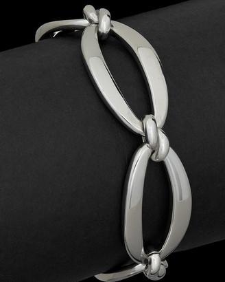 Italian Silver Fancy Oval Link Bracelet