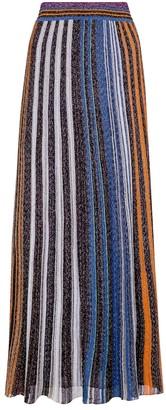 Missoni Metallic striped knit maxi skirt