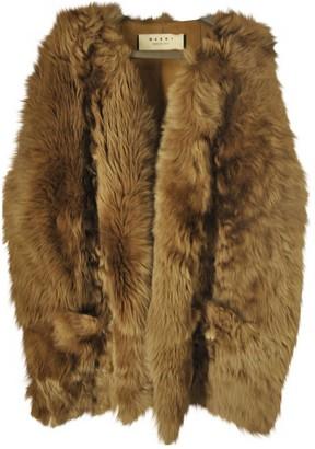 Marni Beige Shearling Leather Jacket for Women