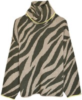 Rag & Bone Kiki Funnel Neck Sweater in Army/Light Army