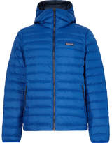 Patagonia Quilted Dwr-coated Ripstop Shell Hooded Down Jacket - Cobalt blue