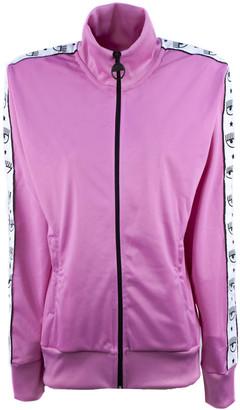 Chiara Ferragni Fuchsia Side Stripe Track Jacket