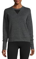 Alo Yoga Downtown Mesh-Back Sweatshirt, Gray