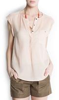 MANGO Sleeveless fine blouse