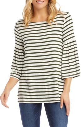 Karen Kane Stripe Bell Sleeve Top