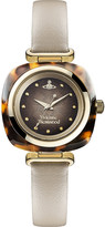 Vivienne Westwood VV141BG Time Machine stainless steel and leather watch