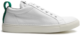 Balmain Perforated leather low-top trainers