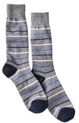 Merona Men's 1pr Dress Socks - Assorted Stripes