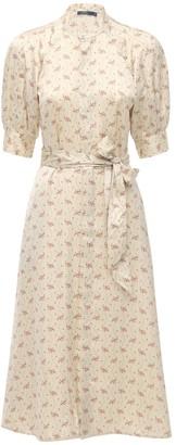 Polo Ralph Lauren Floral Printed Satin Midi Dress