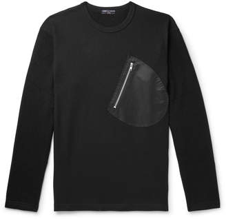 Comme des Garcons Homme Panelled Wool And Cotton-Blend Sweater