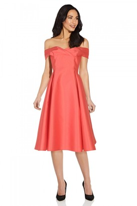 Adrianna Papell Mikado Midi Dress