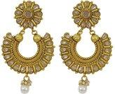 Matra tone Ethnic Kundan Stone Drop Dangle Earrings Set Traditional Party Jewelry