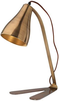 Jamie Young Company Fleetwood Task Lamp, Antique Brass Metal