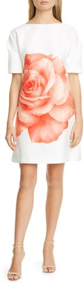 Lela Rose Rose Print Sheath Dress