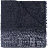 Armani Collezioni printed fringed scarf - men - Linen/Flax/Modal - One Size
