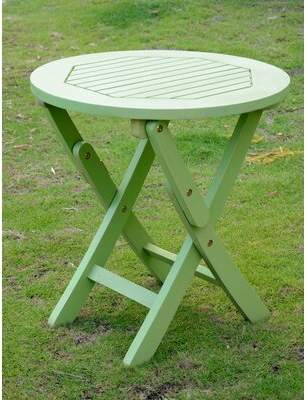 Beachcrest Home Bristol Wooden Side Table Color: Mint Green
