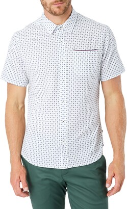 7 Diamonds Another Dimension Slim Fit Short Sleeve Button-Up Shirt