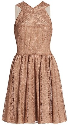 Alaia Tulle Macrame Sleeveless Mini Dress