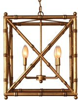 The Well Appointed House Scalamandre Maison Baldwin Gold Chandelier with Optional Shades
