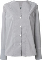 Eleventy fitted pin-striped shirt