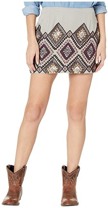 Double D Ranchwear Rainhorse Blanket Skirt (Pewter) Women's Skirt