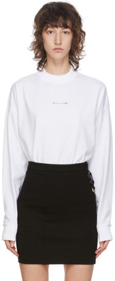 Alyx White Logo Long Sleeve T-Shirt