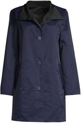 Eileen Fisher Reversible Stand Collar Coat