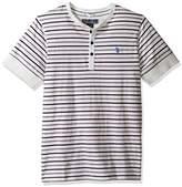 U.S. Polo Assn. Men's Striped Short Sleeve Henley Classic Fit T-Shirt
