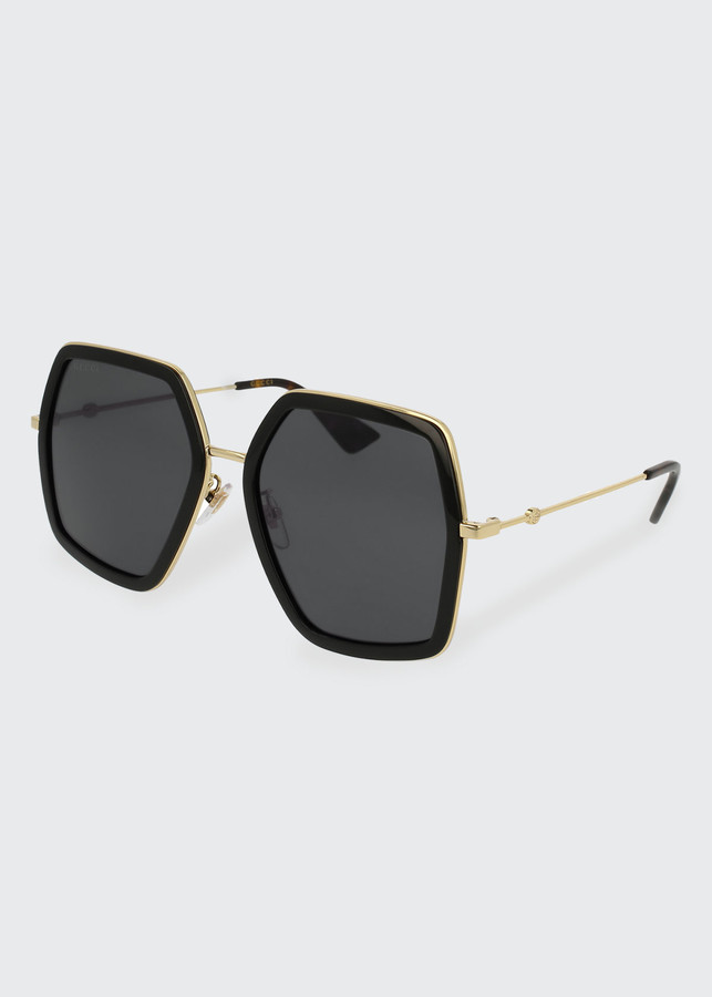 50fc3b727 Black Gold Oversized Sunglasses - ShopStyle