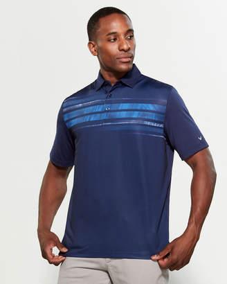 Callaway Athletic Texture Stripe Short Sleeve Tee