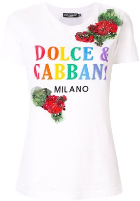 Dolce & Gabbana printed embroidered T-shirt