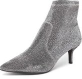 Dorothy Perkins Womens Silver 'Marni' Kitten Sock Boots- Silver