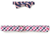 Class Club Striped Bow Tie & Checkered Belt Set