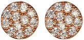 Argentovivo Rose Gold Plated CZ Disc Earrings