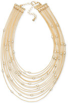INC International Concepts Robert Rose for Gold-Tone Multi-Row Choker Necklace, Only at Macy's