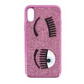 Chiara Ferragni Case For Iphone Xs With Glitter And Flirting Embroidery
